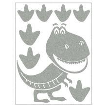 Reflexné nažehlovacie motívy - dinosaurus