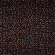 Bavlna tmavě modrá, hnědý zvířecí vzor, š.150