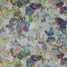 Satén zelenošedý, motýlci, š.145