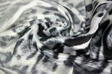 Satén animal, šedo-černé skvrny, š.150