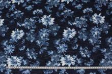 Šatovka tmavě modrá, květy, š.150