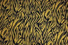 Úplet černožlutý, zvířecí vzor, š.150