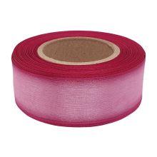 Stuha monofilová s vlascem růžová, šíře 25mm, 25m