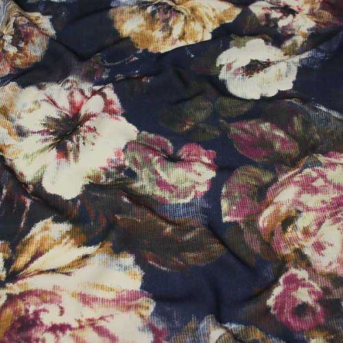 Šatovka tmavo modrá, farebný kvet, š.145
