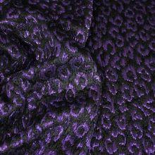 Kostýmovka čierna, fialový vzor š.120
