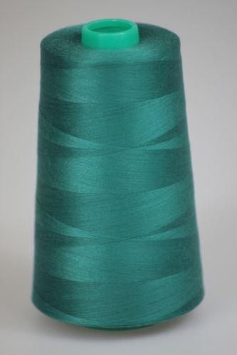 Niť KORALLI polyesterová 120, 5000Y, odtieň 6550, modrá-zelená