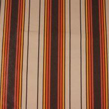 Lehátkovina béžová, oranžovo-hnědý pruh, š.45