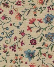 Dekorační látka ROZA, drobné květy, š.280