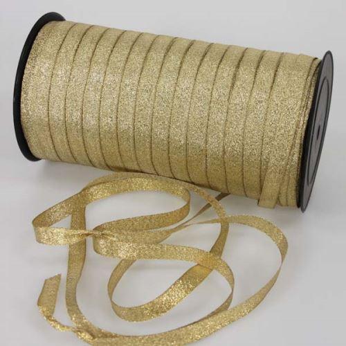 Stuha lurexové zlatá, šírka 10mm