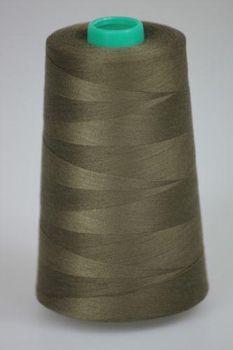 Niť KORALLI polyesterová 120, 5000Y, odtieň 6950, hnedá