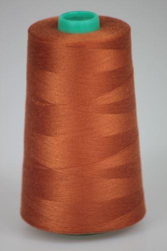 Niť KORALLI polyesterová 120, 5000Y, odtieň 8170, hnedá-oranžová