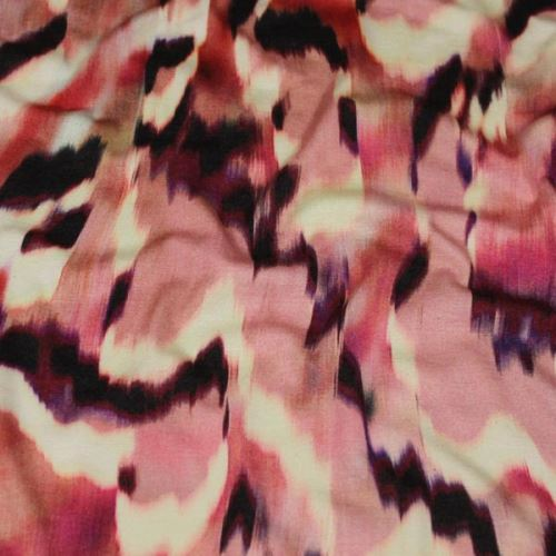 Úplet farebný, ružovo-vínový vzor, š.145