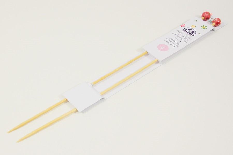 9577cc55b9bf1 Rovné pletacie ihlice bambusové 40 cm, veľkosť 4,0 | Látky-galantéria.sk