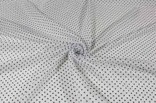 Podšívka bílá, černý puntík, š.150