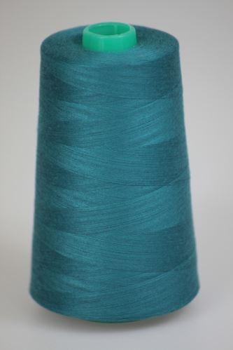 Niť KORALLI polyesterová 120, 5000, odtieň 5750, modrá-zelená