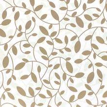 Dekorační látka s teflonovou úpravou bílá, hnědé listy, š.160