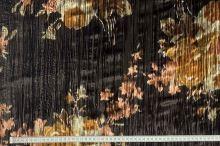 Samet 08076 hnědý, barevný vzor š.130