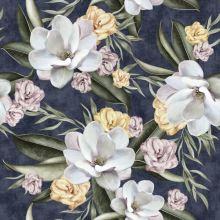 Dimout modrý, veľké farebné kvety, š.150