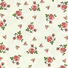 Dekorační látka SONJA krémová, růžičky, š.160