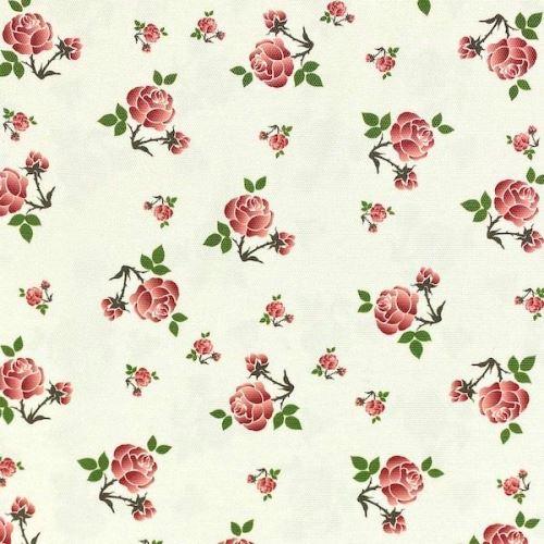 Dekoračná látka SONJA krémová, ružičky, š.160