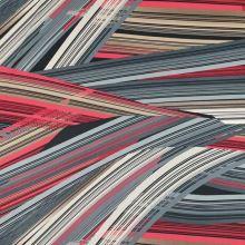 Úplet vzorovaný, farebné šikmé pruhy, š.150