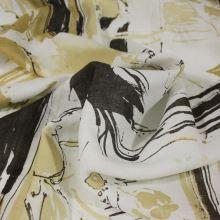 Šatovka biela, béžovohnědý vzor, š.150