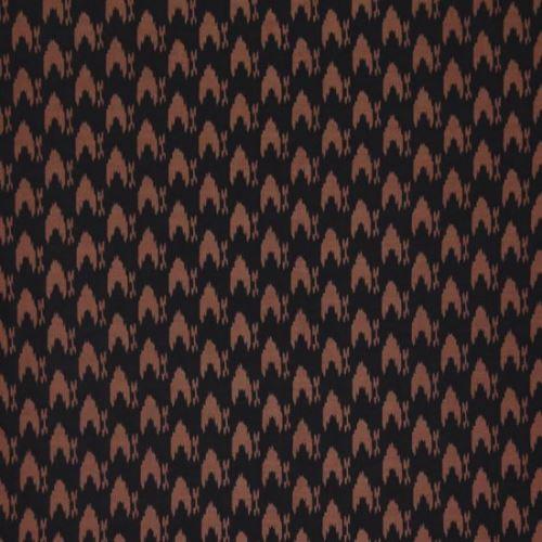 Úplet černý, pravidelný hnědý vzor, š.145