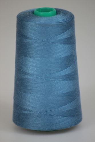 Niť KORALLI polyesterová 120, 5000Y, odtieň 5440, modrá