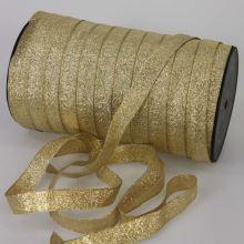 Stuha lurexové zlatá, šírka 15mm