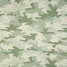 Teplákovina nepočesaná zelený army vzor, š.150