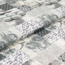 Bavlnené plátno šedo-biele, home decor, š.140