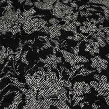 Úplet béžovo-čierny, kvetovaný vzor, š.145