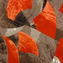 Úplet N5476, hnedo-červený vzor, š.145