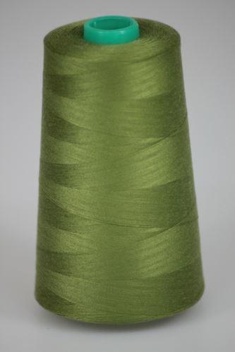 Niť KORALLI polyesterová 120, 5000Y, odtieň 6860, zelená
