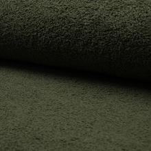 Froté khaki, bavlnené, 340g/m, š.150
