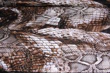 Satén snake hnědo-bílý, š.150