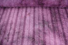 Šifon fialový s výšivkou, třásně, š.145