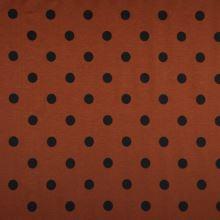Úplet LINO rezavý, černý puntík, š.150