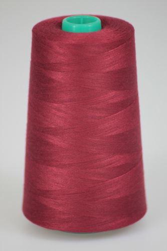 Niť KORALLI polyesterová 120, 5000Y, odtieň 2570, červená-vínová