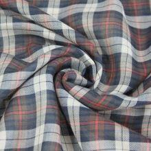 Košilovina káro tmavě hnědá-bílá-červená, š.140
