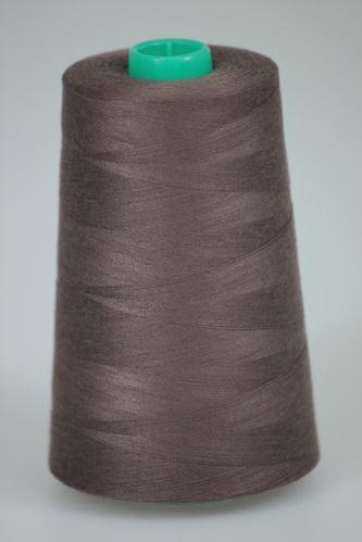 Niť KORALLI polyesterová 120, 5000Y, odtieň 8360, hnedá