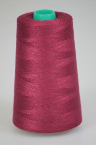 Niť KORALLI polyesterová 120, 5000, odtieň 2640, červená-fialová