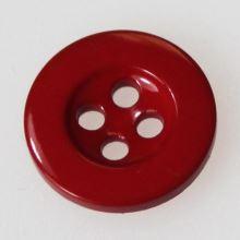 Knoflík červený K24-9, průměr 15 mm.