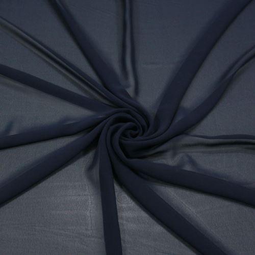 Šifon tmavě modrý BW395, š.145