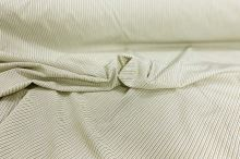 Košeľovina biela, khaki tenký pruh š.140