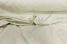 Košilovina bílá, khaki tenký pruh š.140