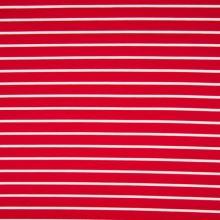 Úplet červený, bílý pruh, š.160