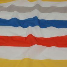 Tkanina barevné pruhy, š.150
