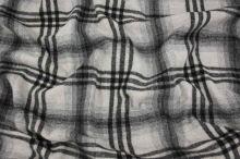 Kabátovina šedo-čierne káro š.155