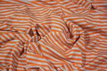 Úplet světle šedý, oranžový pruh, š.165